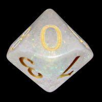TDSO Shimmer Rose & Gold D10 Dice