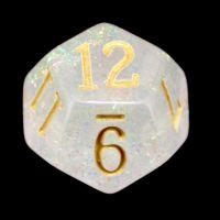 TDSO Shimmer Rose & Gold D12 Dice