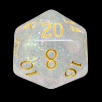 TDSO Shimmer Rose & Gold D20 Dice