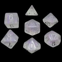 TDSO Shimmer Purple & Silver 7 Dice Polyset