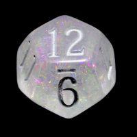 TDSO Shimmer Purple & Silver D12 Dice