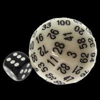 TDSO Glow in the Dark Yellow D100 Dice