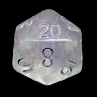 TDSO Shimmer Purple & Silver D20 Dice