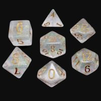 TDSO Shimmer Green & Bronze 7 Dice Polyset