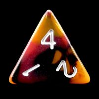 TDSO Trio Black Orange & Red D4 Dice