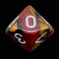 TDSO Trio Black Orange & Red D10 Dice