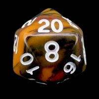 TDSO Trio Black Orange & Red D20 Dice