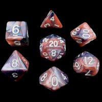 TDSO Trio Pearl Black Pink & Purple 7 Dice Polyset