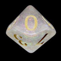 TDSO Shimmer Pink & Gold D10 Dice