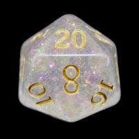 TDSO Shimmer Pink & Gold D20 Dice