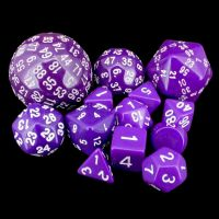 Opaque Purple Complete 13 Dice Set