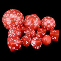 Opaque Red Complete 13 Dice Set