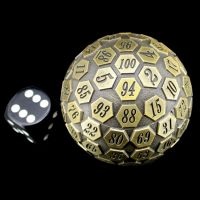 TDSO Metal Meteor Antique Gold 55mm D100 Dice