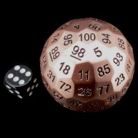 TDSO Metal Cannonball Pearl Copper 55mm D100 Dice