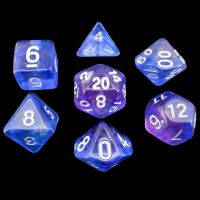 TDSO Transparent Moonstone Orchid 7 Dice Polyset