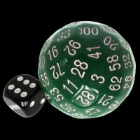 TDSO Opaque Green D100 Dice