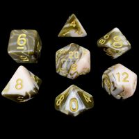 TDSO Duel Raspberry Ripple 7 Dice Polyset LIMITED EDITION