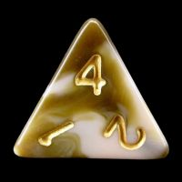 TDSO Duel Raspberry Ripple D4 Dice LIMITED EDITION