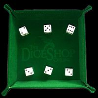 HALF PRICE TDSO Folding Forest Green Dice Tray