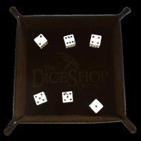 HALF PRICE TDSO Folding Dark Brown Dice Tray