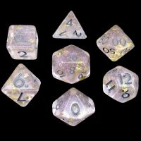CLEARANCE TDSO Champagne Supernova Silver 2021 7 Dice Polyset FABULOUS FIFTY