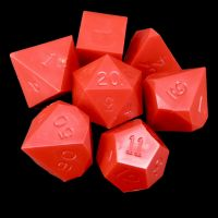 GameScience Opaque Crimson Red 7 Dice Polyset