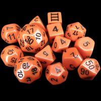 Impact Dungeon Crawl Classics DCC Opaque Orange & Black 14 Dice Set