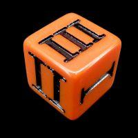 Impact Opaque Orange & Black Roman Numeral D3 Dice