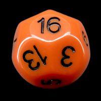 Impact Opaque Orange & Black D16 Dice