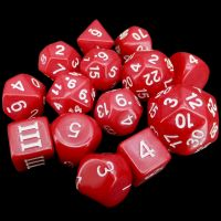 Impact Dungeon Crawl Classics DCC Opaque Red & White 14 Dice Set