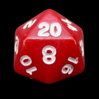Impact Opaque Red & White D20 Dice