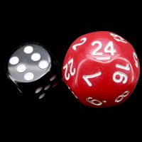 Impact Opaque Red & White D24 Dice