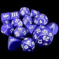 Impact Dungeon Crawl Classics DCC Opaque Purple & White 14 Dice Set