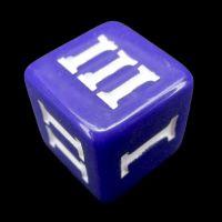 Impact Opaque Purple & White Roman Numeral D3 Dice