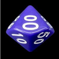 CLEARANCE Impact Opaque Purple & White D6 Dice