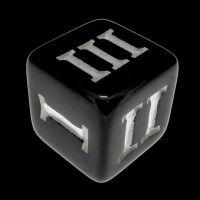 Impact Opaque Black & White Roman Numeral D3 Dice