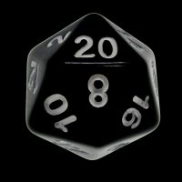 CLEARANCE Impact Opaque Black & White D6 Dice