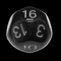 Impact Opaque Black & White D16 Dice