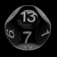 Impact Opaque Black & White D13 Dice