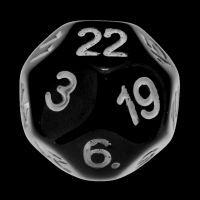 Impact Opaque Black & White D22 Dice