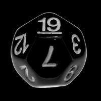 Impact Opaque Black & White D19 Dice