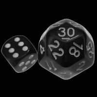 Impact Opaque Black & White D30 Dice