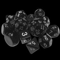 Impact Dungeon Crawl Classics DCC Opaque Black & White 14 Dice Set