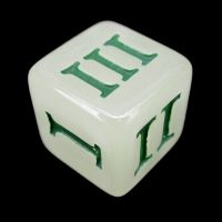 Impact Glow in the Dark & Green Roman Numeral D3 Dice
