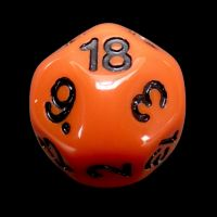 Impact Opaque Orange & Black D18 Dice