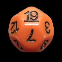 Impact Opaque Orange & Black D19 Dice