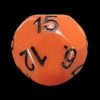 Impact Opaque Orange & Black D15 Dice