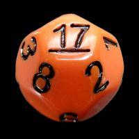 Impact Opaque Orange & Black D17 Dice
