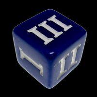 Impact Opaque Blue & White Roman Numeral D3 Dice