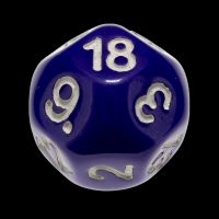 Impact Opaque Purple & White D18 Dice